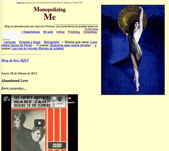 Monopolizing Me: Blog de notas de febrero de 2013