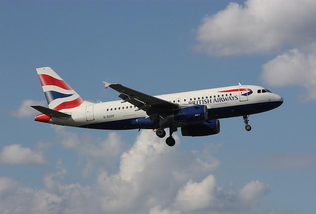 G-EUOF Airbus A319-131 British Airways