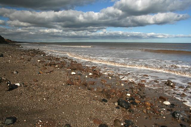 The beach north of Aldbrough