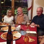Pizza Essen im Restaurant Baumgarten in Alpnach (3.10.2018)