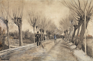 Road in Etten (1881) by Vincent Van Gogh. Original from the MET Museum. Digitally enhanced by rawpixel.