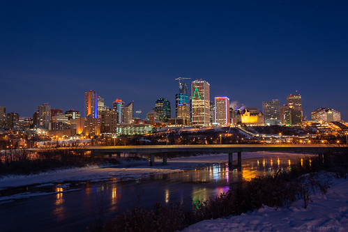 edmonton travelphoto morning landscape sunrise dawn nature alberta jasperave downtown canada northsaskatchewanriver picoftheday jamesmacdonaldbridge ss82 landscapephotography keepexploring landscapecaptures travelworld ca