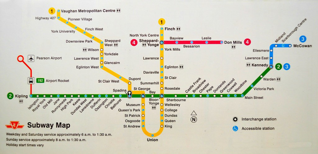 Toronto Subway Map.Toronto Subway System Map Toronto Ontario Canada Flickr