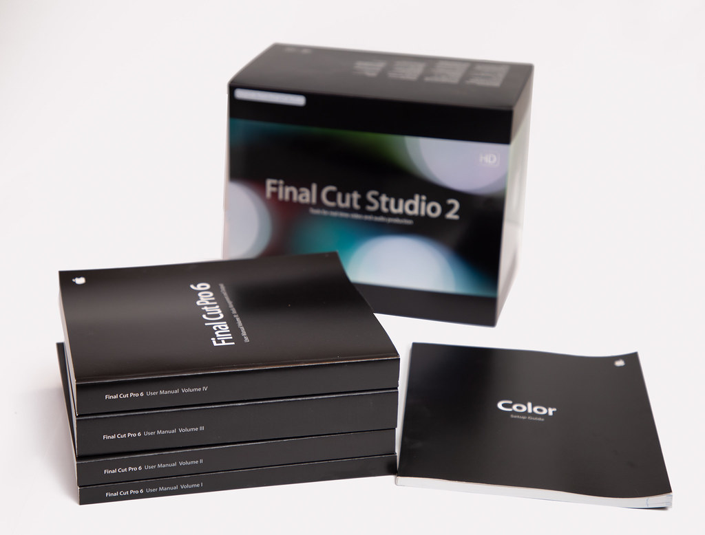 Final Cut Pro 6 Manuals | Back in the day (early 2000's) whe