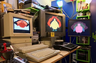 TURKEY, a 35-year old type-in program running on three systems in the Byte Cellar. | by blakespot