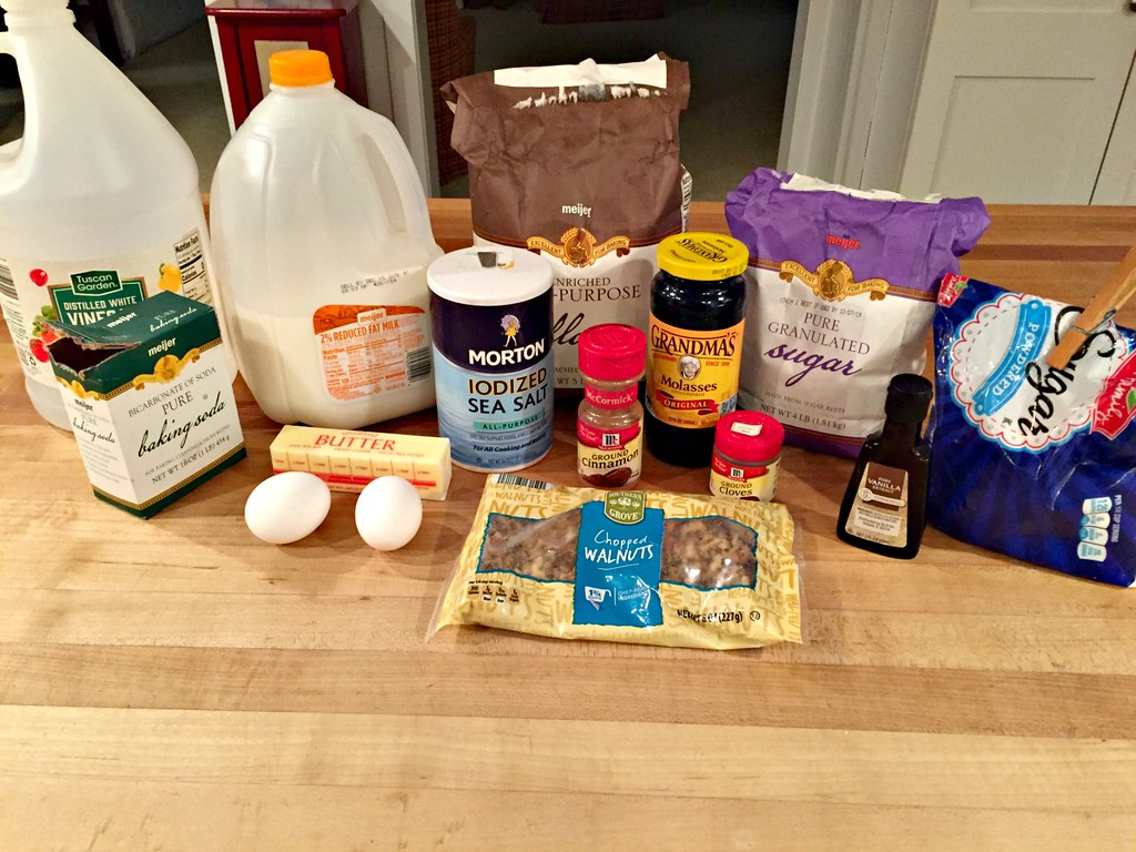 ingredients for spiced molasses cookies