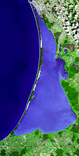 The Curonian Spit in Lithuania and the Russian Federation. Original from NASA. Digitally enhanced by rawpixel.