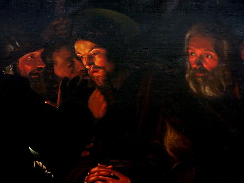 Atribuido a Gerard Seghers (1591-1651). Prendimiento de Cristo. Óleo sobre lienzo,