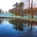 Paseando por el golf en una fría mañana