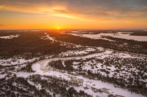 emajõgi estonia mavic2pro tartumaa aerial clouds dronephoto landscape morning outdoor river sky snow sunrise trees winter