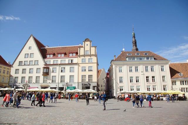 Altstadt Tallinns, Hauptstadt Estlands, Rathausplatz (3.07.17)