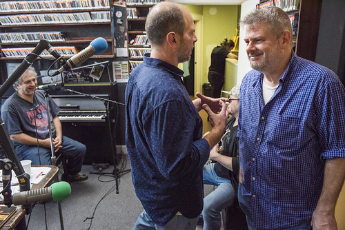David Torkanowsky, Scott Borne, Eric Benny Bloom, Dave Ankers at WWOZ's 38th birthday - 12.4.18. Photo by Ryan Hodgson-Rigsbee rhrphoto.com.