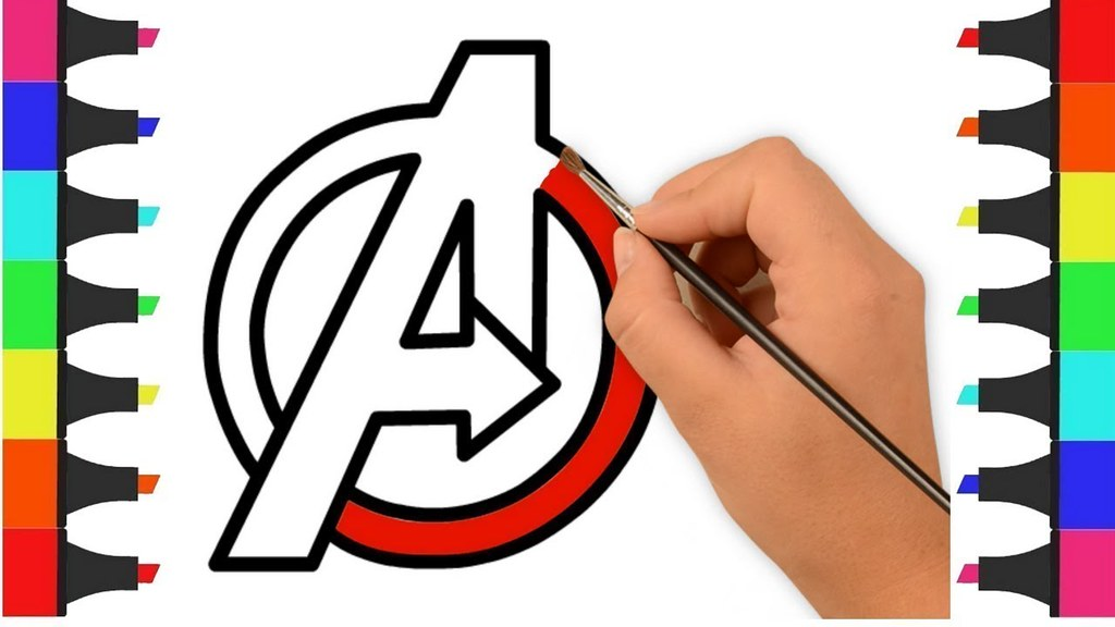 Avengers 4 Logo Coloring Pages for Kids – Avengers Endgame ...