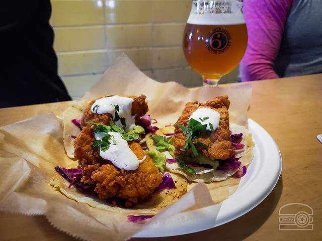 Fish tacos w/ corn tortilla, Mexican Slaw, Avocado smash, and chili lime yogurt dressing - Smithtown Seafood