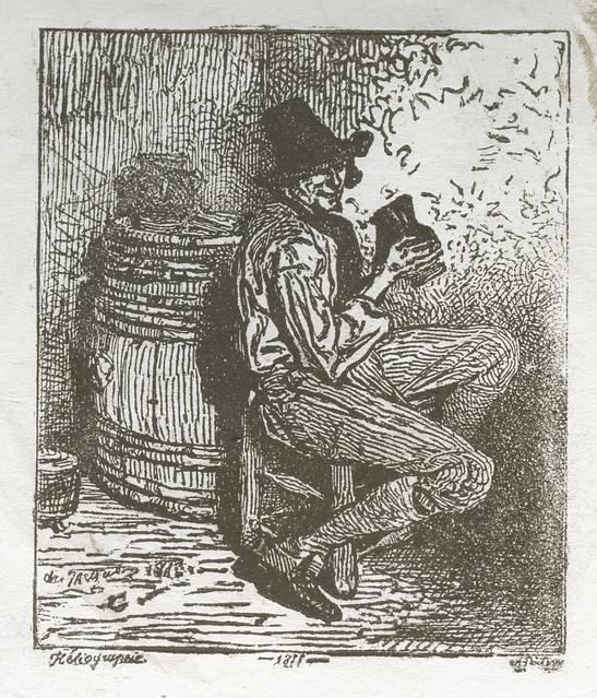 Alphonse Poitevin - Man Drinking, 1855