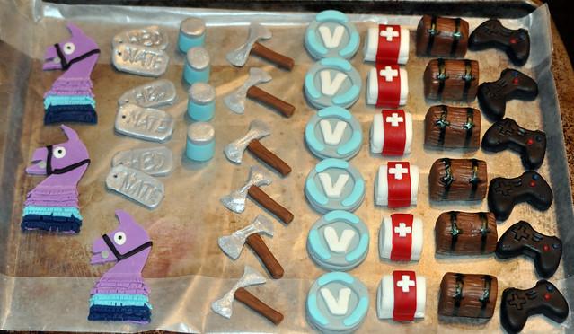 Fortnite 11th Birthday Cupcakes