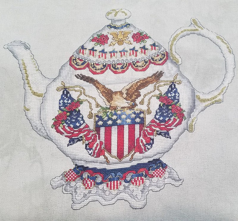 "Abby's ""Patriotic Teapot,"" designed by Donna Giampa"