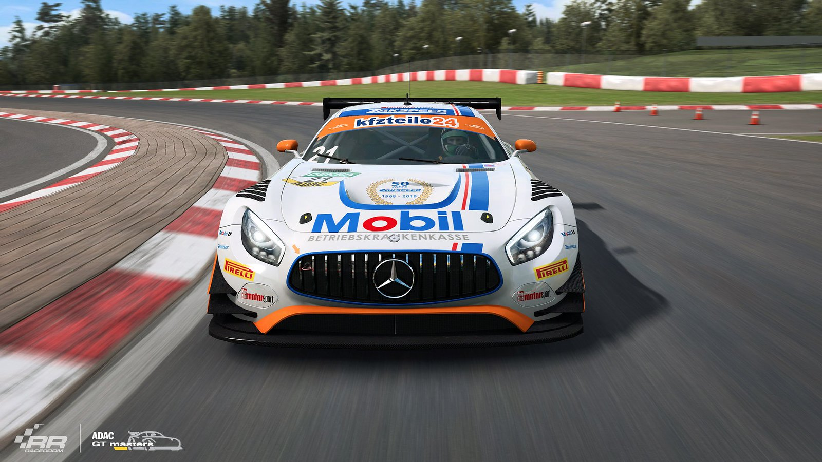 2 RaceRooom Mercedes-AMG teams of ADAC GT Masters 2018