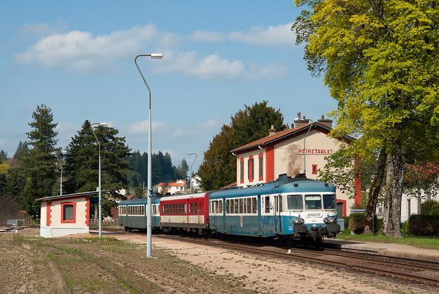 X 2807, TER Clermont-Ferrand - St-Étienne-Châteaucreux, Noirétable