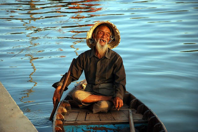 Old man in a boat
