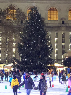 Picture Of Bryant Park 2018 Christmas Tree In New York City. The Bryant Park 2018 Christmas Tree Will Be Lit On Tuesday December 4, 2018. Photo Taken Tuesday November 27, 2018