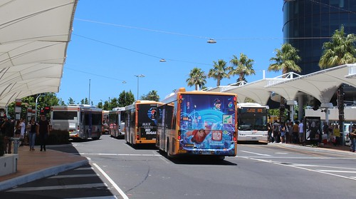 Buses queued at Chadstone to exit the bus interchange, Boxing Day 2018 | by Daniel Bowen