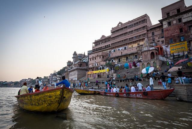 Ganges river at sunset