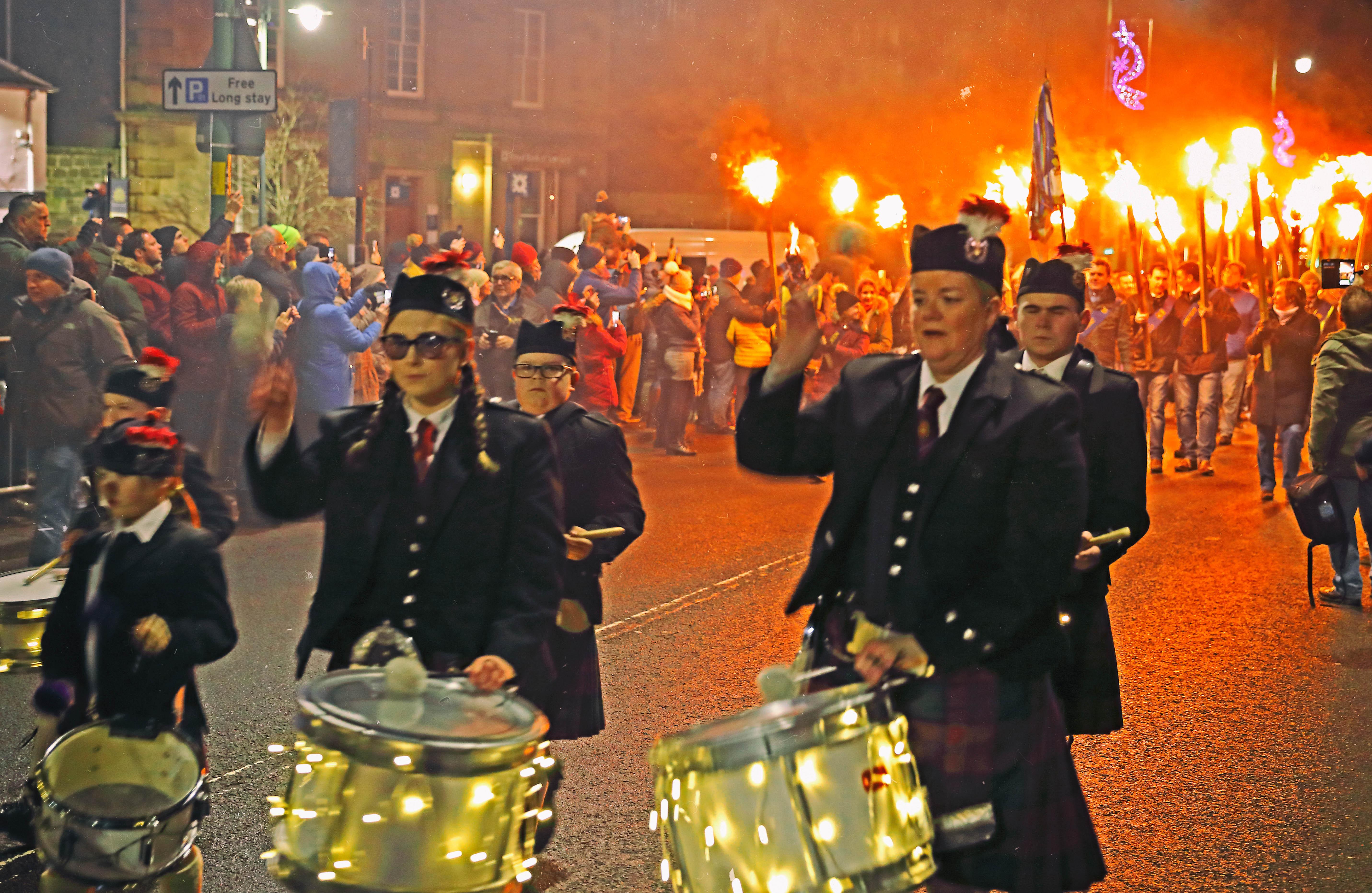 Biggar,Bonfire,fire,Borders,Scottish,scotland,UK,HousingITguy,Project365,2nd 365,HotpixUK365,Tone Smith,GoTonySmith,365,2365,one a day,Tony Smith,Hotpix,marching,pipers,lit,lighting