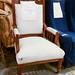 Ornate throne arms chair E165