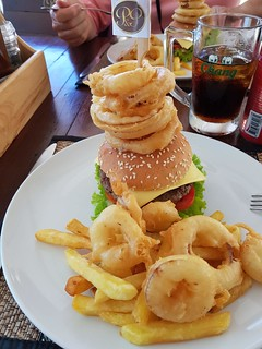 Cheeseburger with fries and onion rings 1 | by SierraSunrise