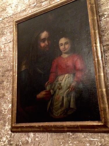 menina virgem em Santa Ana
