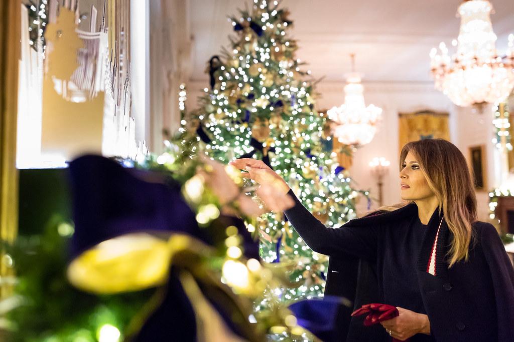 Trump White House Christmas.White House Christmas 2018 First Lady Melania Trump Review