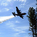 A C-130 Hercules aircraft equipped with a USDA Forest Service Modular Airborne Fire Fighting System drops water over the Tahoe National Forest, Calif., April 26, 2018. The four military airlift wings tasked with supporting the Department of Defense MAFFS mission took part in annual recertification training sponsored by the Forest Service April 22-27. This year's training wrapped up at McClellan Reload Base in Sacramento with all four wings successfully recertified and prepared for the upcoming fire season. The four airlift wings, three Air National Guard and one Air Force Reserve, making up the MAFFS Air Expeditionary Group are the 146th AW, California ANG, 152nd AW, Nevada ANG, 153rd AW, Wyoming ANG and 302nd AW, Air Force Reserve, Peterson AFB, Colorado. (U.S. Air Force photo by Staff Sgt. Frank Casciotta)