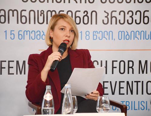 """საერთაშორისო კონფერენცია """"ფემიციდის შემთხვევების მონიტორინგი პრევენციისთვის""""  15.11.18  International Conference on Monitoring Femicide for Prevention"""