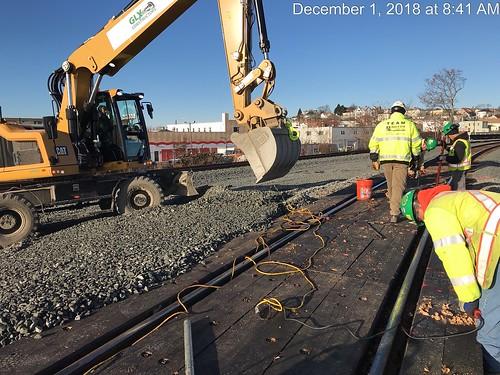 Green Line Extension Crossing Install Joy St, December 2018 | by MassDOT