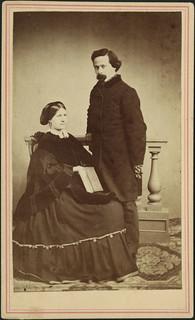 Napoléon Bourassa and his wife, Azélie Papineau / Napoléon Bourassa et sa femme, Azélie Papineau