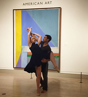 "A remarkable performance by @dallasblackdance in our American Art Gallery with choreography inspired by artist Dorothy Austin's ""Slow Shuffle"". See more #DMANights highlights in our story! . . #MyDMA #DallasMuseumofArt #AmericanArt #Dance #DancePerformanc 