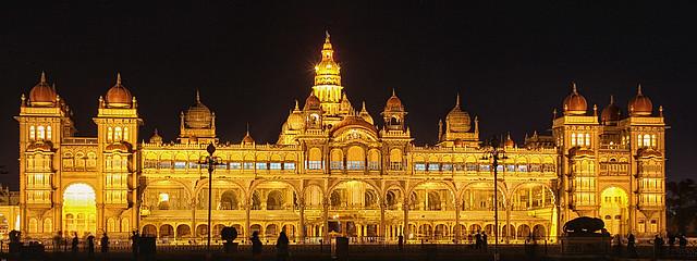 Floodlit Mysore Palace