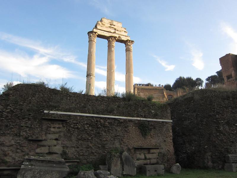 Roma-Temple de Castor et Pollux