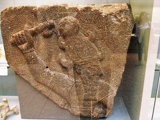 Fragment of a relief showing Teshub, the storm-god. 10th century BC, Neo-Hittite From Kargamış, Gaziantep, Turkey