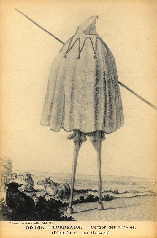 """D'après Gustave de Galard """"Berger des Landes"""" 1818-1819"""