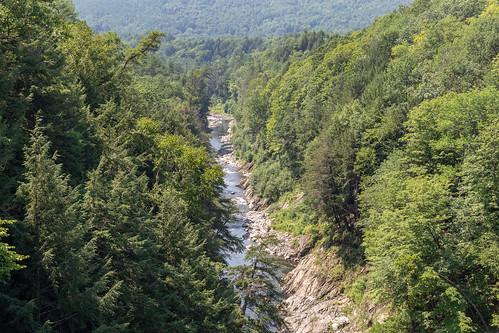 deweysmills hartford vermont gorge brige creek trees