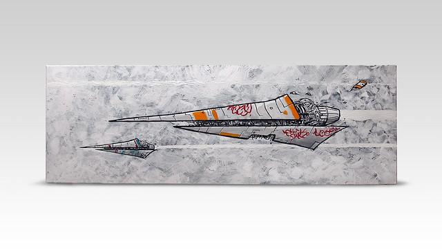 Belters-having-fun-[acrylic-on-canvas]-by-Simeon-Genew-[120x40cm]