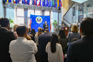 Secretary Pompeo Speaks With Employees and Family Members of U.S. Embassy Manama
