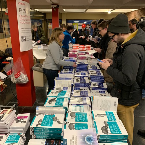 A very busy O'Reilly stand at FOSDEM | by akrabat