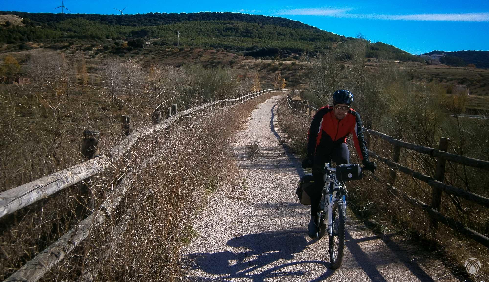 Rubén apretando pedales