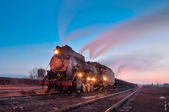 Steam & sunrise time...