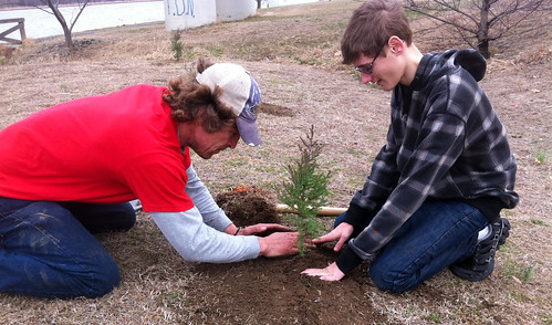 Photo of youth planting trees