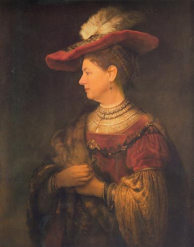 Herma als Rembrandt's Saskia van Uijlenburg