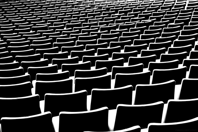 Stadium Seats Abstract